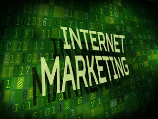 internet marketing words isolated on digital background
