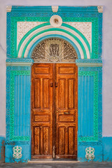 Decorative door in Kairouan, Tunisia