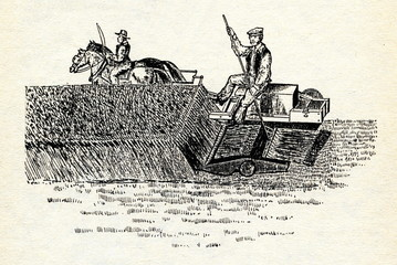 Hussey's Reaping Machine ca. 1833
