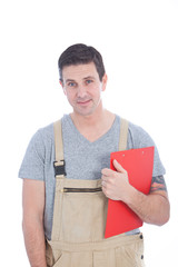 Good Looking Service Man with Clipboard