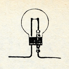 Lodygin's incandescent lamp