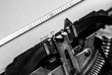 Old typewriter - Dear Mr.