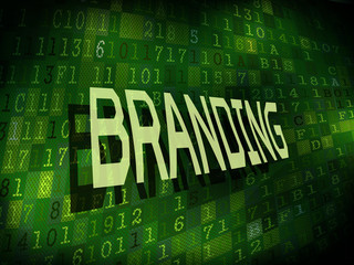branding word isolated on digital background