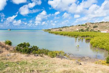 Rodrigues, île Diamant, côte Nord et mangrove