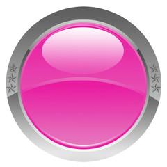 bouton rose étoiles