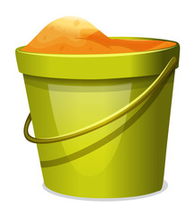 A pail with sand