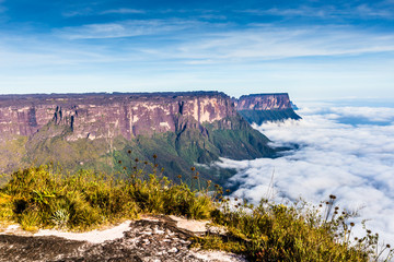 View from the Roraima tepui on Kukenan tepui- Venezuela