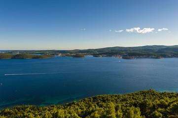 View from Peljesac peninsula at island Korčula