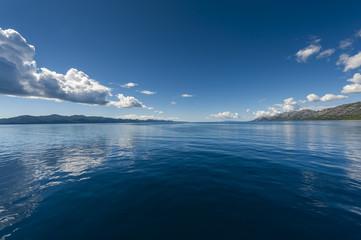Adriatic sea morning seascape, near Mljet, Croatia.