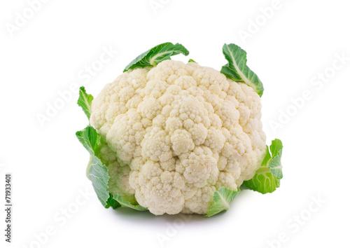 Leinwanddruck Bild cauliflower isolated on white background