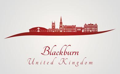 Blackburn skyline in red