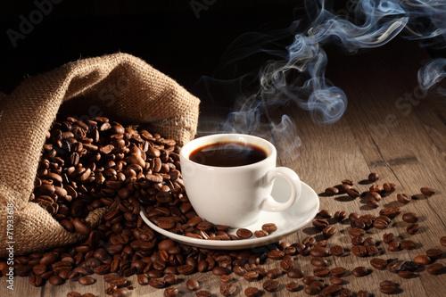 Foto op Canvas Koffie heisser Kaffee 3