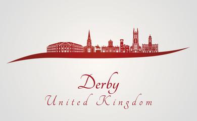 Derby skyline in red