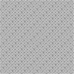 Abstract black and white geometric seamless pattern.