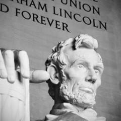 Abraham Lincoln close up, Lincoln memorial, Washington