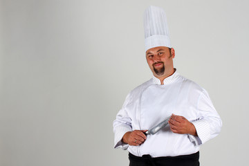 Chef with knife