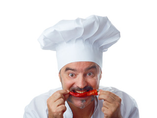 Playful Chef with chili