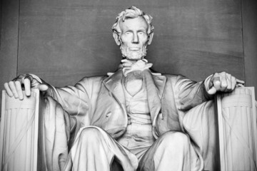Abraham Lincoln statue, Lincoln memorial in Washington