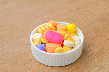 colorful medicine capsule pill