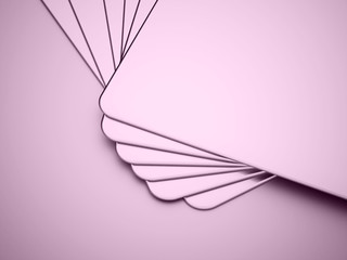 Pink blank card concept