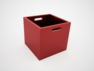 Red open box rendered