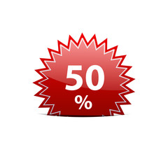 Vector sign discount 50%