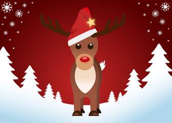 Rudolph Card Merry Christmas