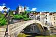 Leinwandbild Motiv beautiful medieval villages of Italy - Dolceaqua (Liguria)