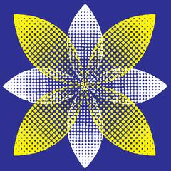 halftone flower. vector illustration
