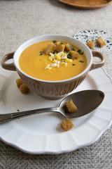 Pumpkin creamy soup
