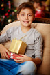Boy with xmas presents