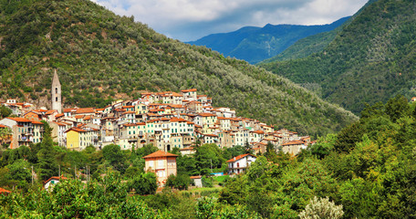 pictorial hill top villages of Italy in Liguria