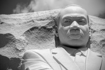 Martin Luther King memorial statue in Washington.