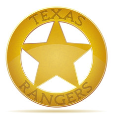 star texas ranger vector illustration