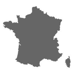 Frankreich Karte (grau)
