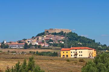 Panoramic view of Lagopesole. Basilicata. Italy.