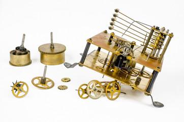 alte Teile, Uhrwerk Pendeluhr