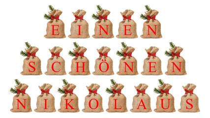 Jutesäckchen - einen schönen Nikolaus