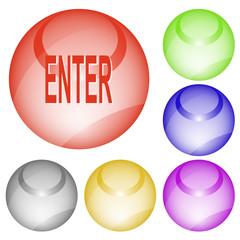 Enter. Vector interface element.