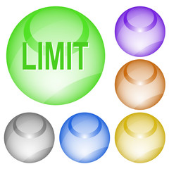 Limit. Vector interface element.