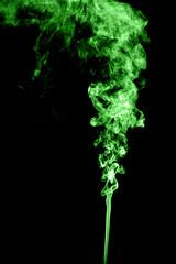 Green colored smoke