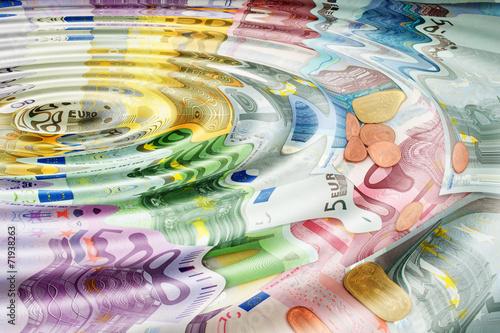Leinwanddruck Bild Geldwäsche