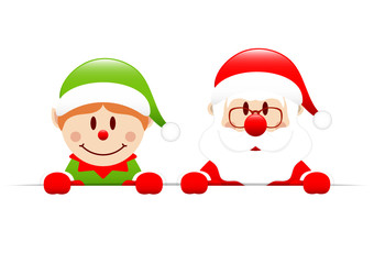 Elf & Santa Banner