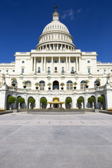 United States Capitol Government building in Washington.