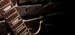Leinwanddruck Bild - fingerboard of guitar
