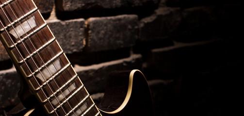 fingerboard of guitar