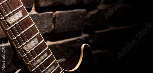 Fotobehang Muziekwinkel fingerboard of guitar