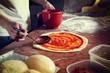 canvas print picture - Fresh Italian pizza