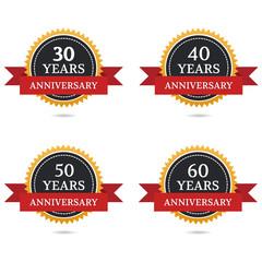 anniversary 30th, 40th, 50th, 60th
