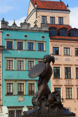 Medieval statue of merimade, Warsaw